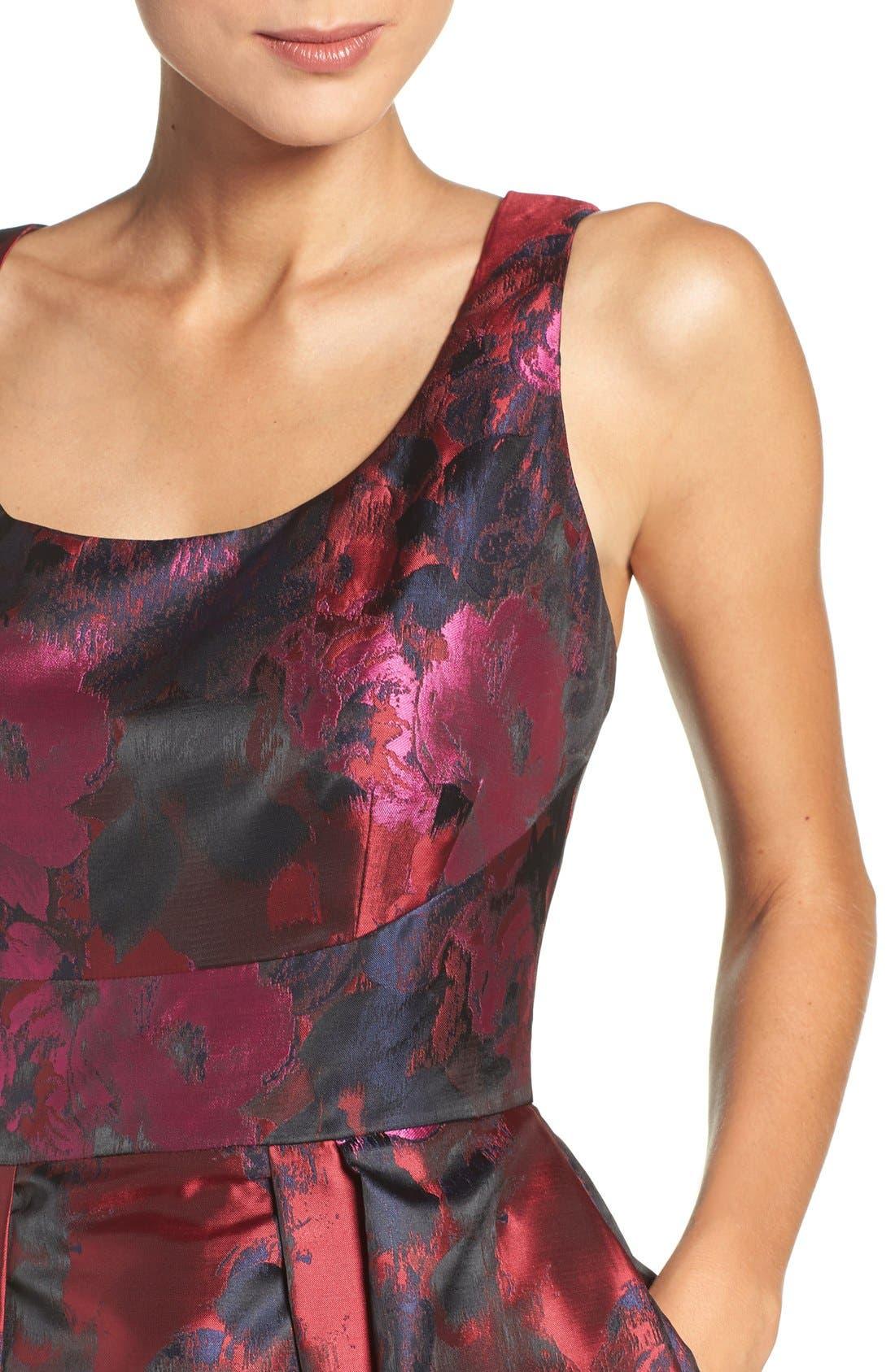 Alternate Image 4  - Ivanka Trump Floral Organza Fit & Flare Midi Dress