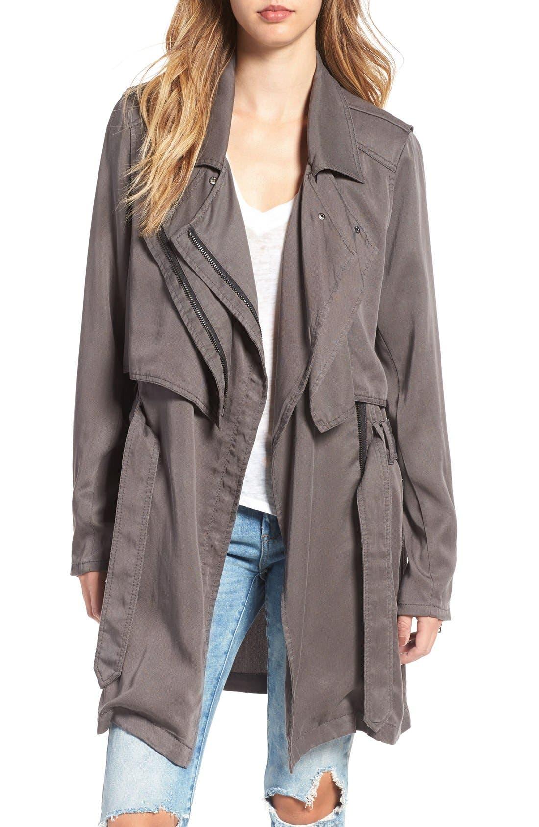 Main Image - BLANKNYC Drapey Trench Coat