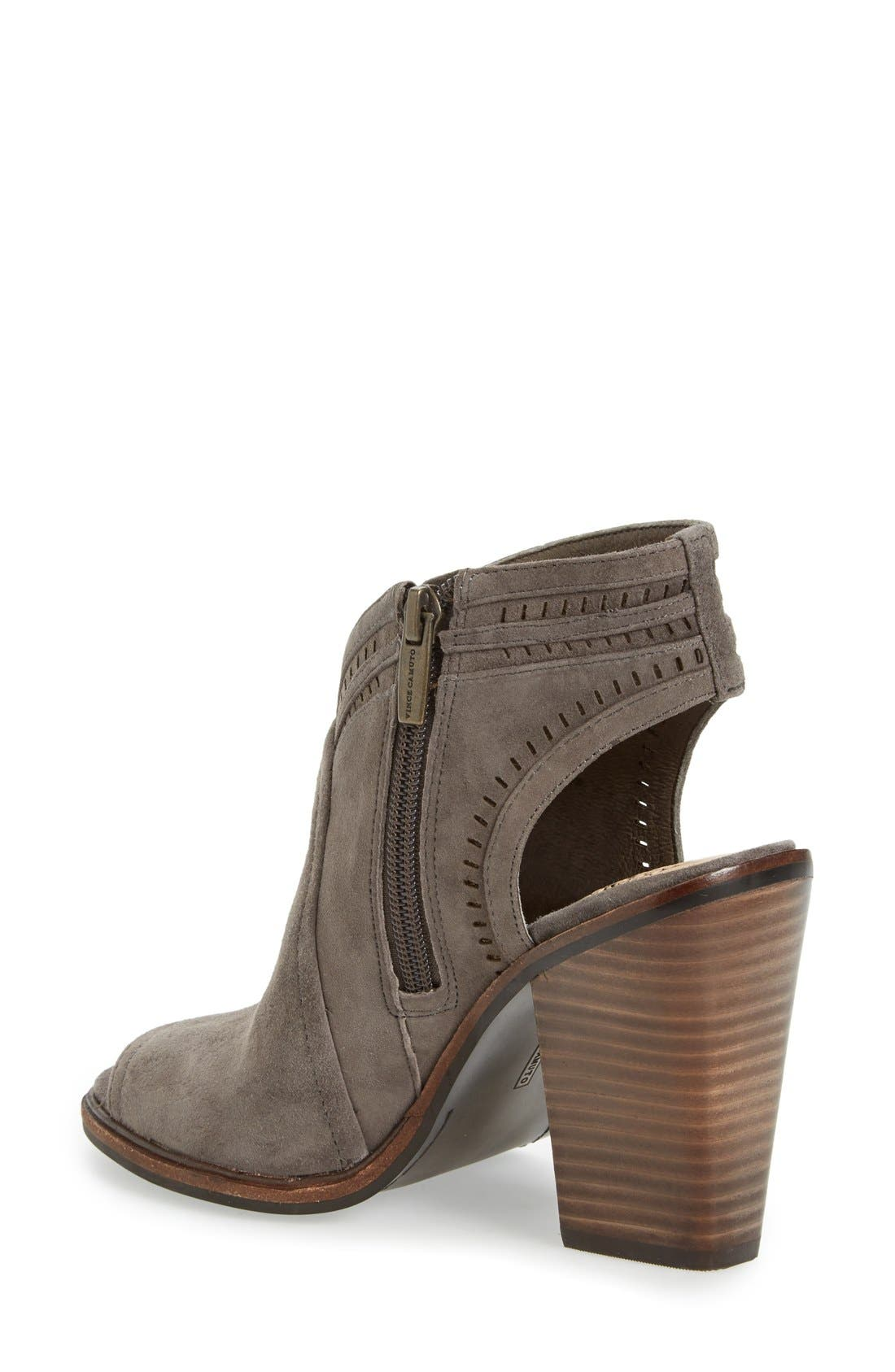Alternate Image 2  - Vince Camuto 'Koral' Perforated Open Toe Bootie (Women) (Nordstrom Exclusive)
