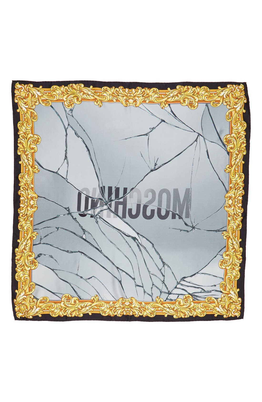 Main Image - Moschino Golden Edge Silk Scarf