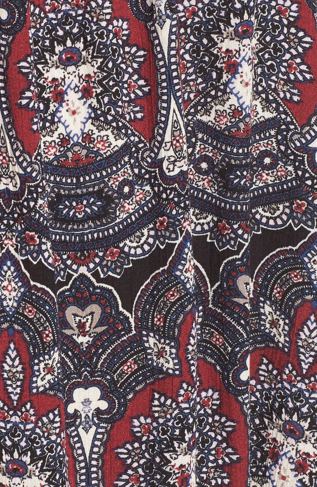 Alternate Image 5  - Band of Gypsies Floral Print Off the Shoulder Shift Dress