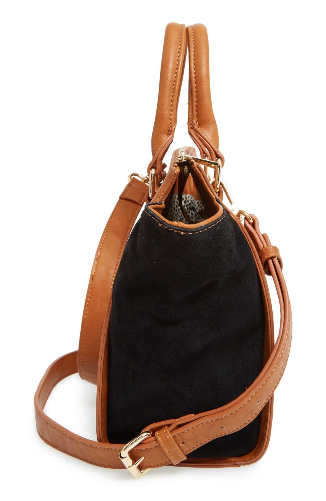 Alternate Image 5  - Sole Society 'Bridgette' Winged Faux Leather & Faux Suede Satchel