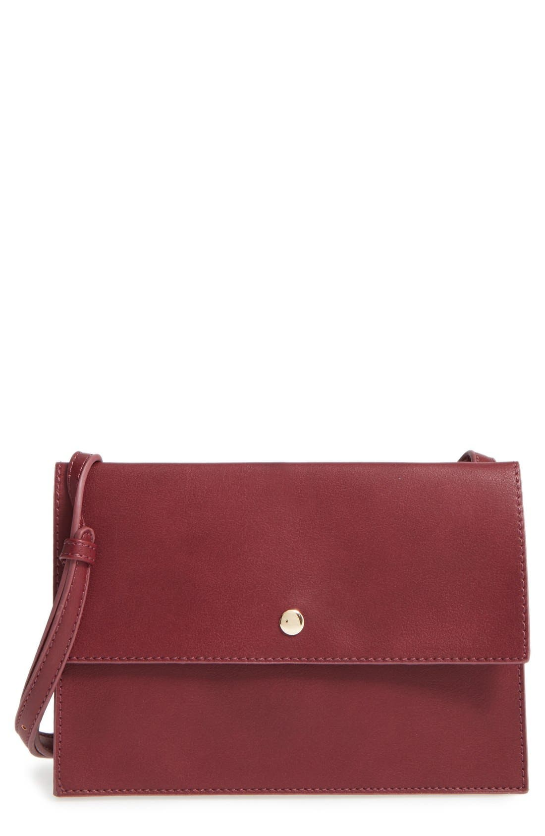 Main Image - Sole Society 'Vanessa' Faux Leather Crossbody Bag