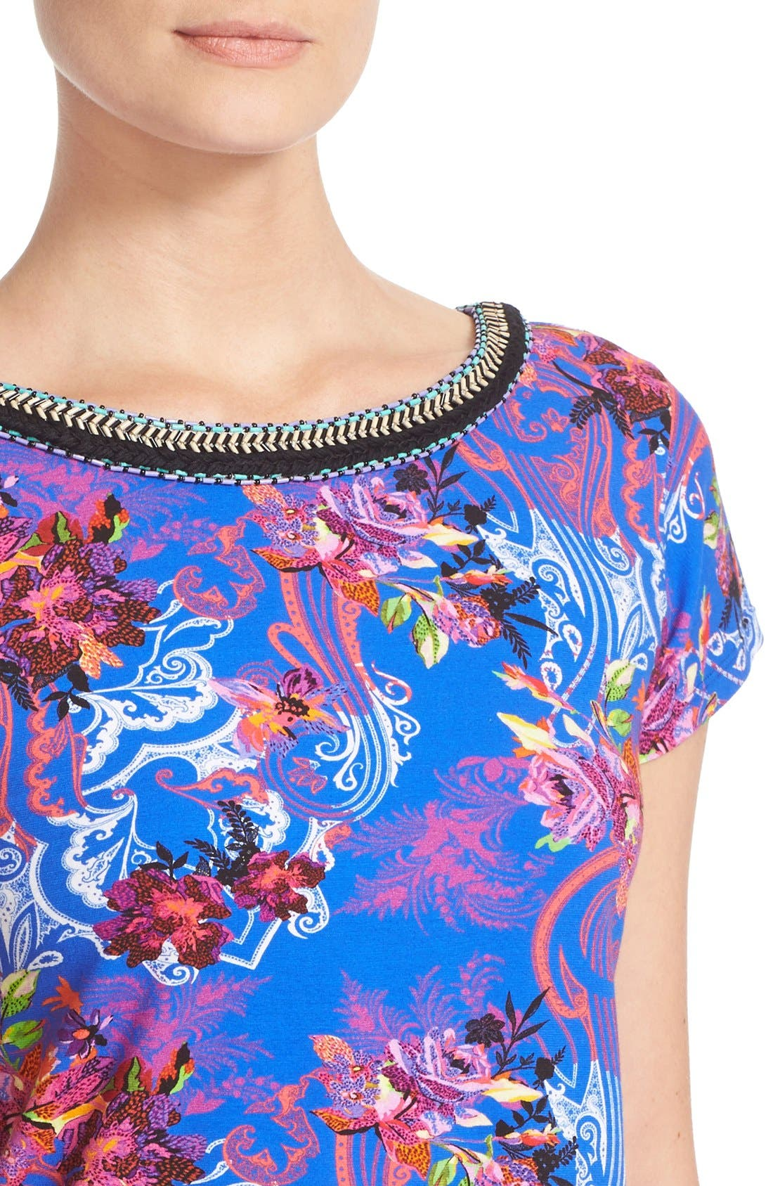 Alternate Image 6  - Etro Floral Print Stretch Cotton Tee