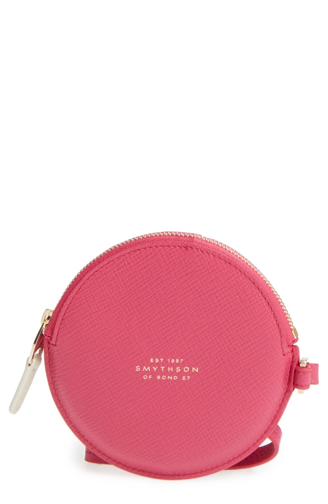Alternate Image 1 Selected - Smythson Circle Leather Coin Purse