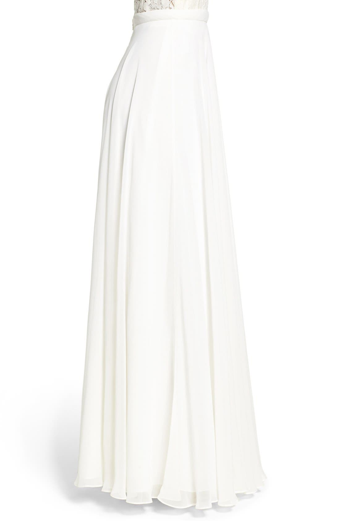 Alternate Image 3  - Jenny Yoo 'Hampton' Long A-Line Chiffon Skirt
