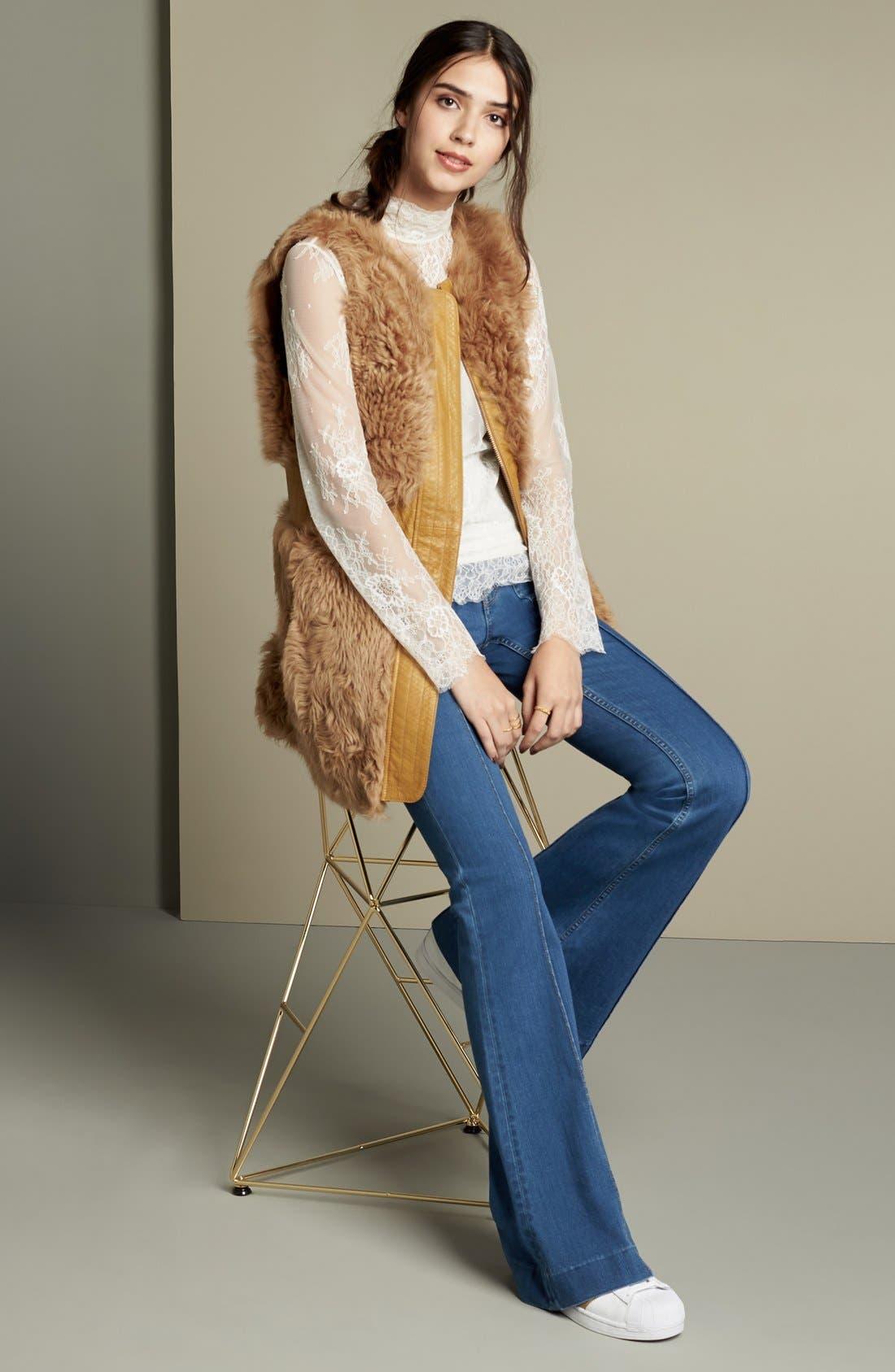 Alternate Image 8  - Olivia Palermo + Chelsea28 High Rise Flare Jeans (Mode Lt Rinse)