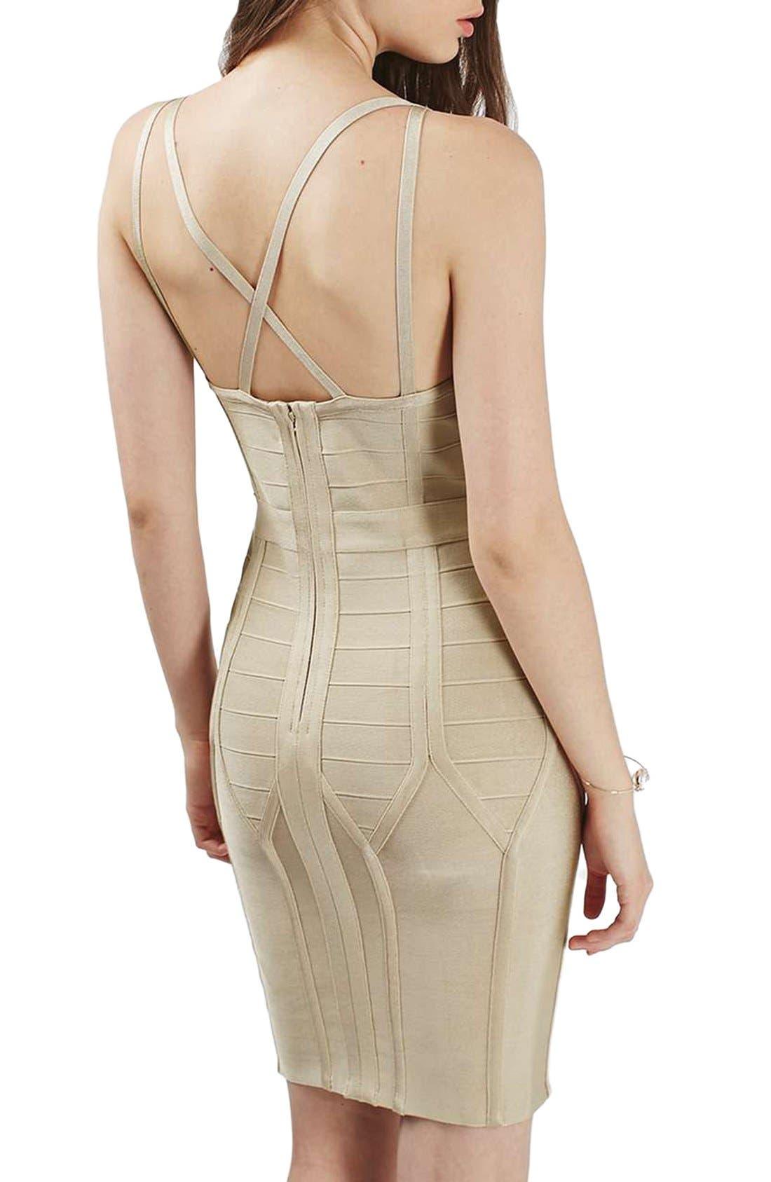 Alternate Image 3  - Topshop Strappy Bandage Body-Con Dress
