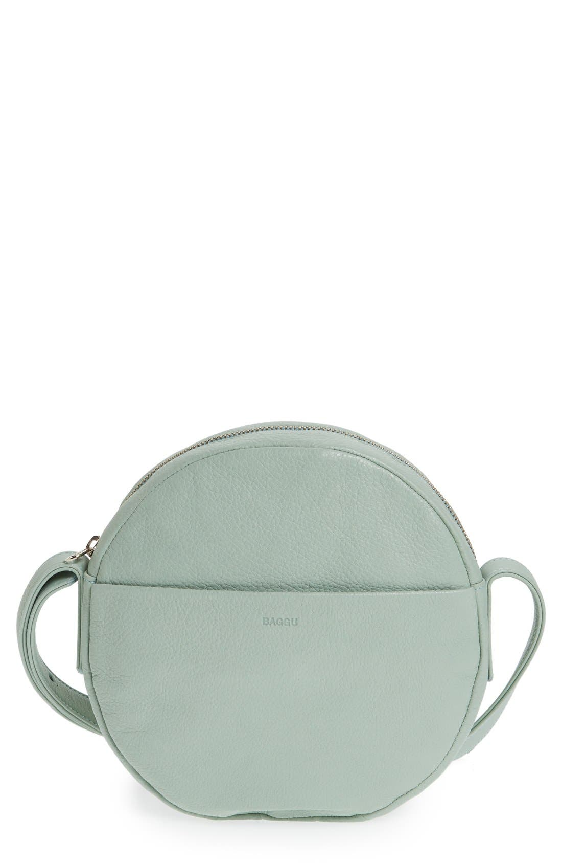 Alternate Image 1 Selected - Baggu Pebbled Leather Crossbody Bag