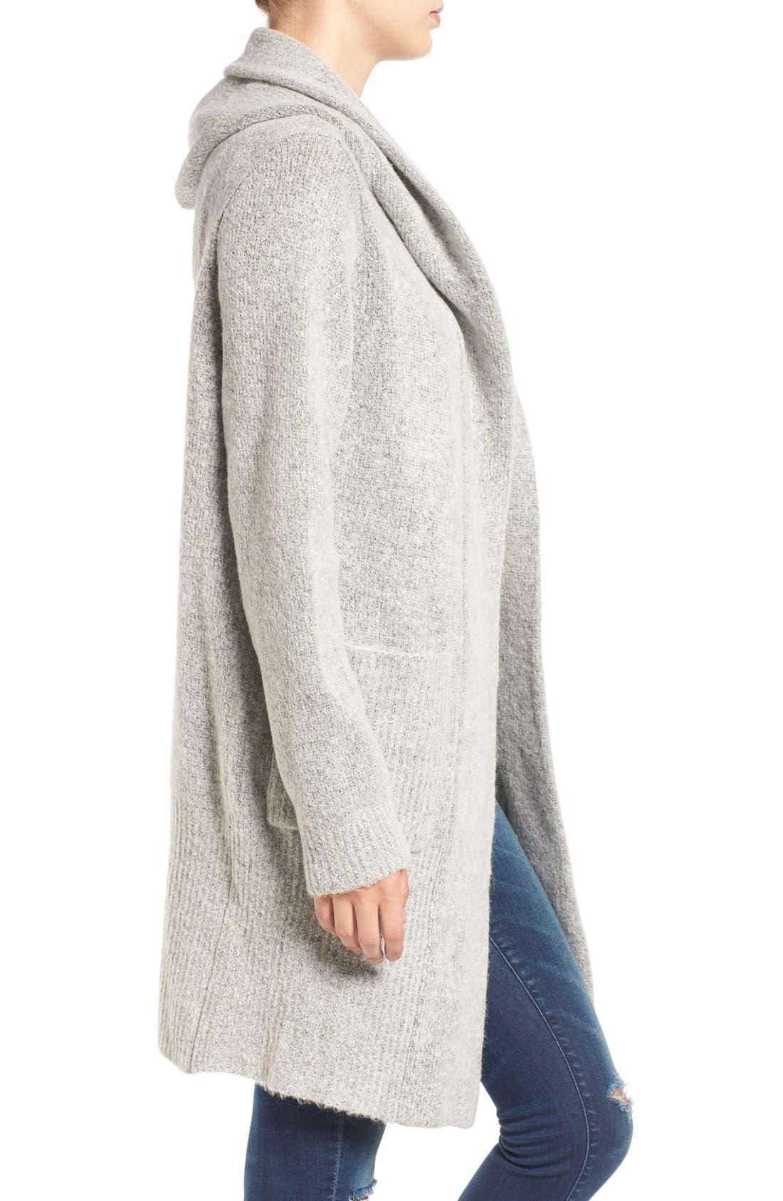 Alternate Image 3  - BLANKNYC 'Textationship' Knit Hooded Cardigan