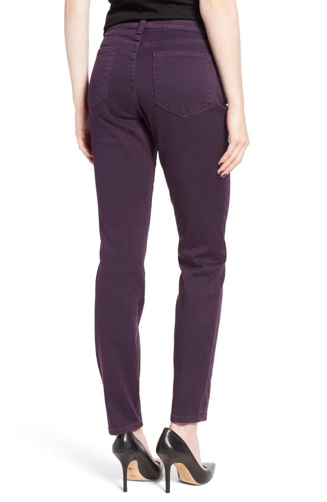 Alternate Image 2  - NYDJ Alina Colored Stretch Skinny Jeans (Regular & Petite)