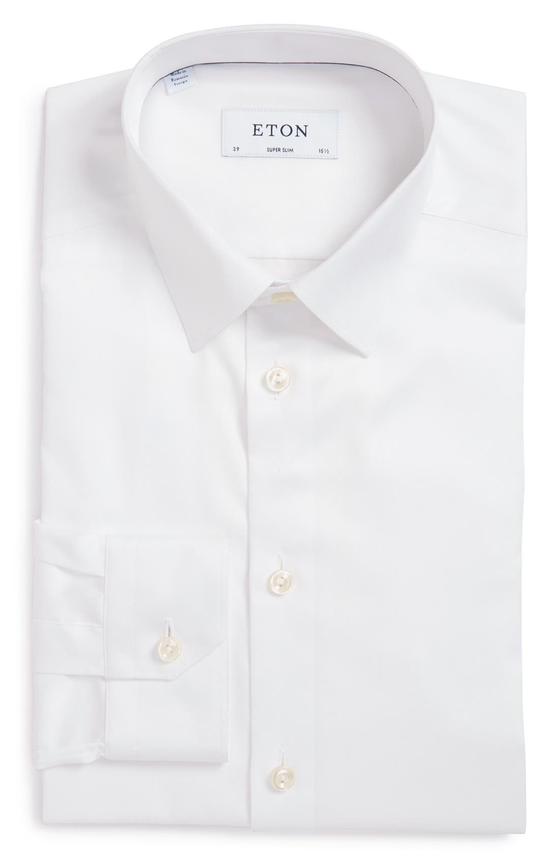 ETON Super Slim Fit Twill Dress Shirt