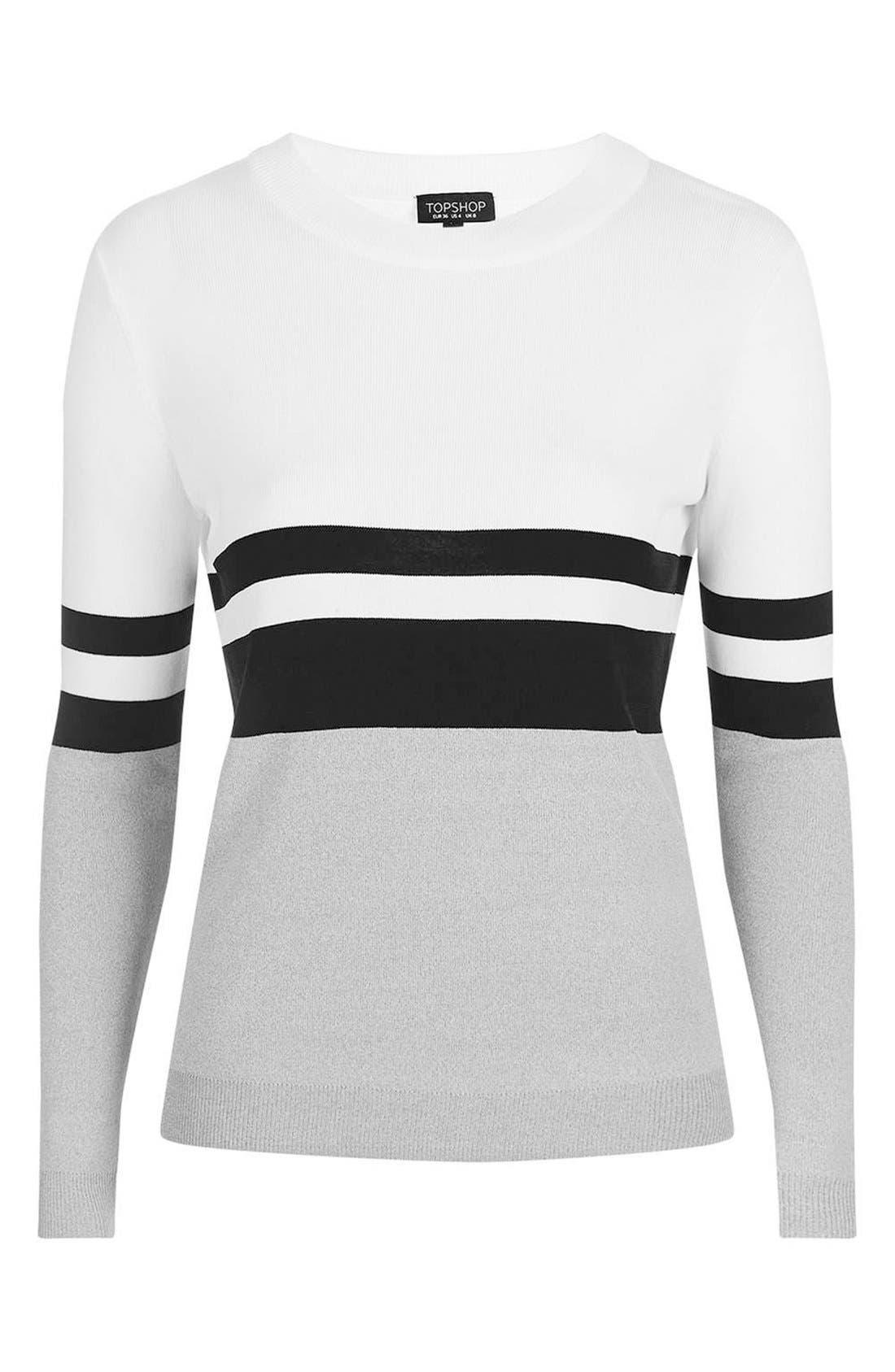 Alternate Image 5  - Topshop Sporty Stripe Sweater