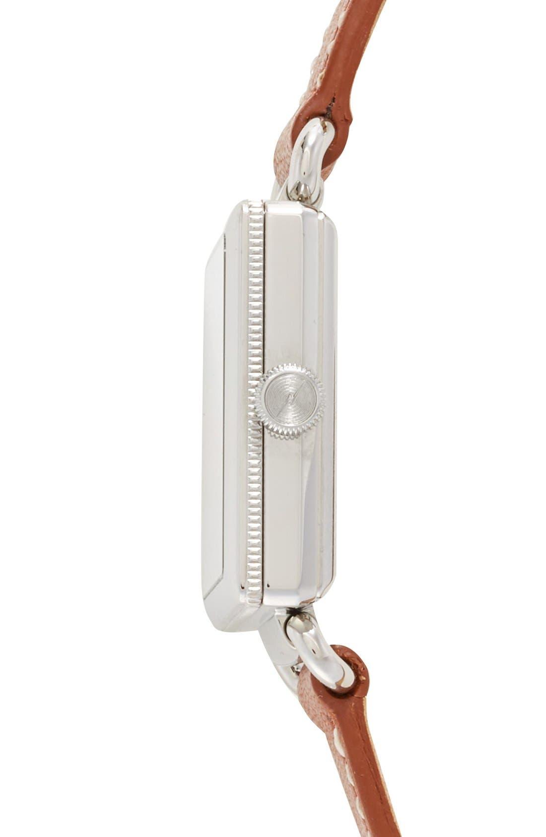 Alternate Image 4  - Shinola Cass Leather Strap Watch, 28mm