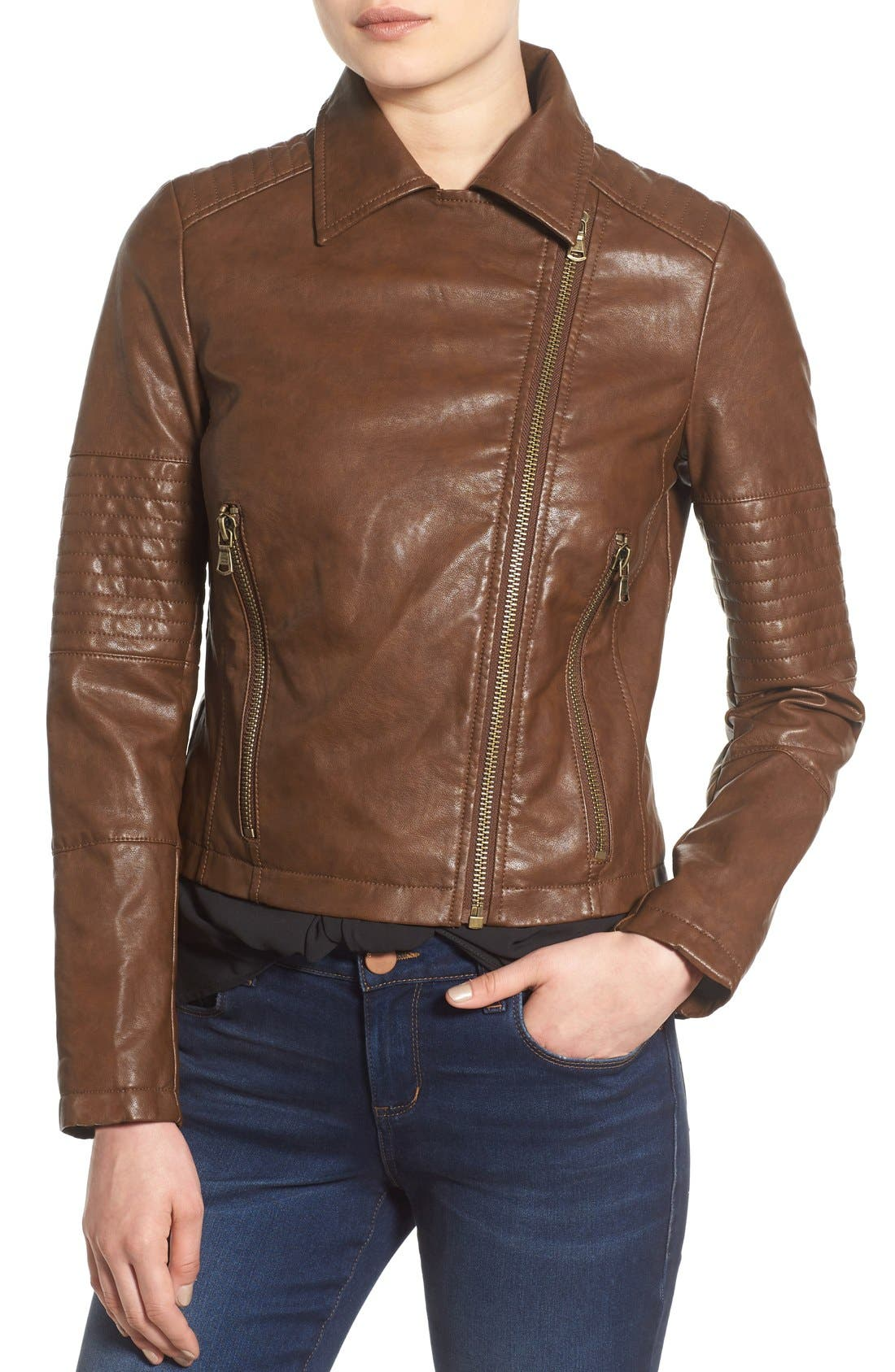 Alternate Image 4  - Levi's® Faux Leather Moto Jacket
