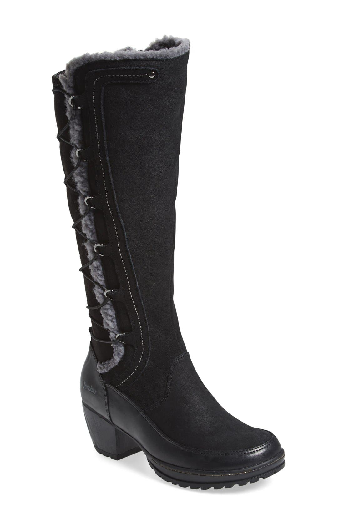 jambu alberta faux shearling lined knee high boot