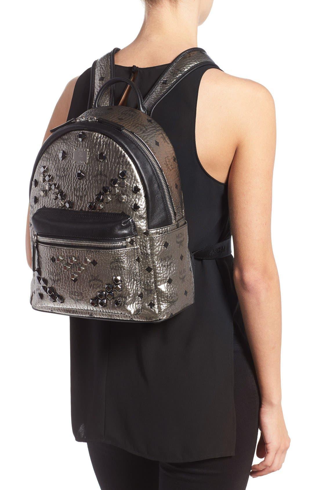 Alternate Image 2  - MCM 'Small Stark' Studded Backpack