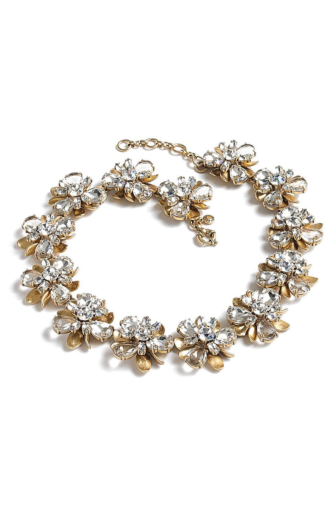 Alternate Image 1 Selected - J.Crew 'Crystal Blossom' Necklace