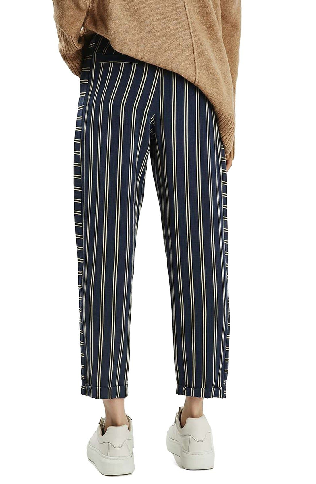 Alternate Image 3  - Topshop Stripe Peg Trousers