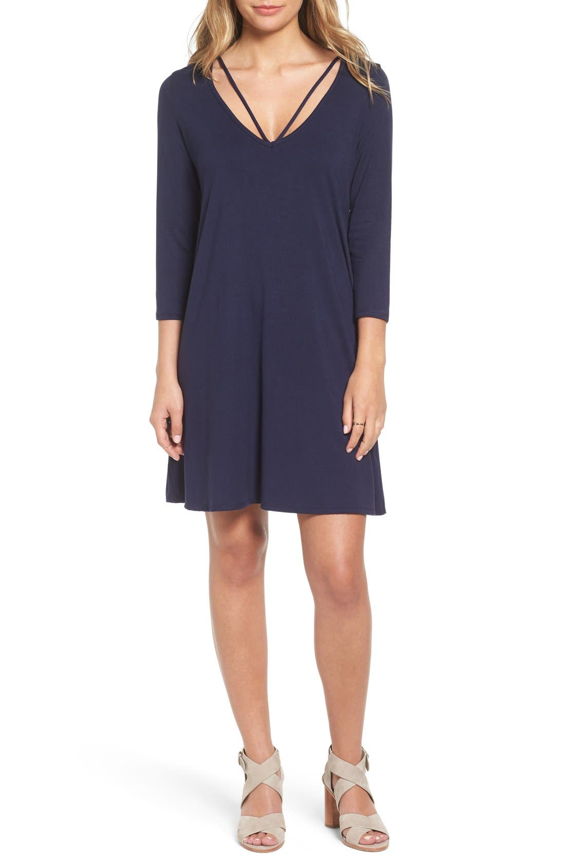 Alternate Image 1 Selected - Socialite Scoop Neck Shift Dress