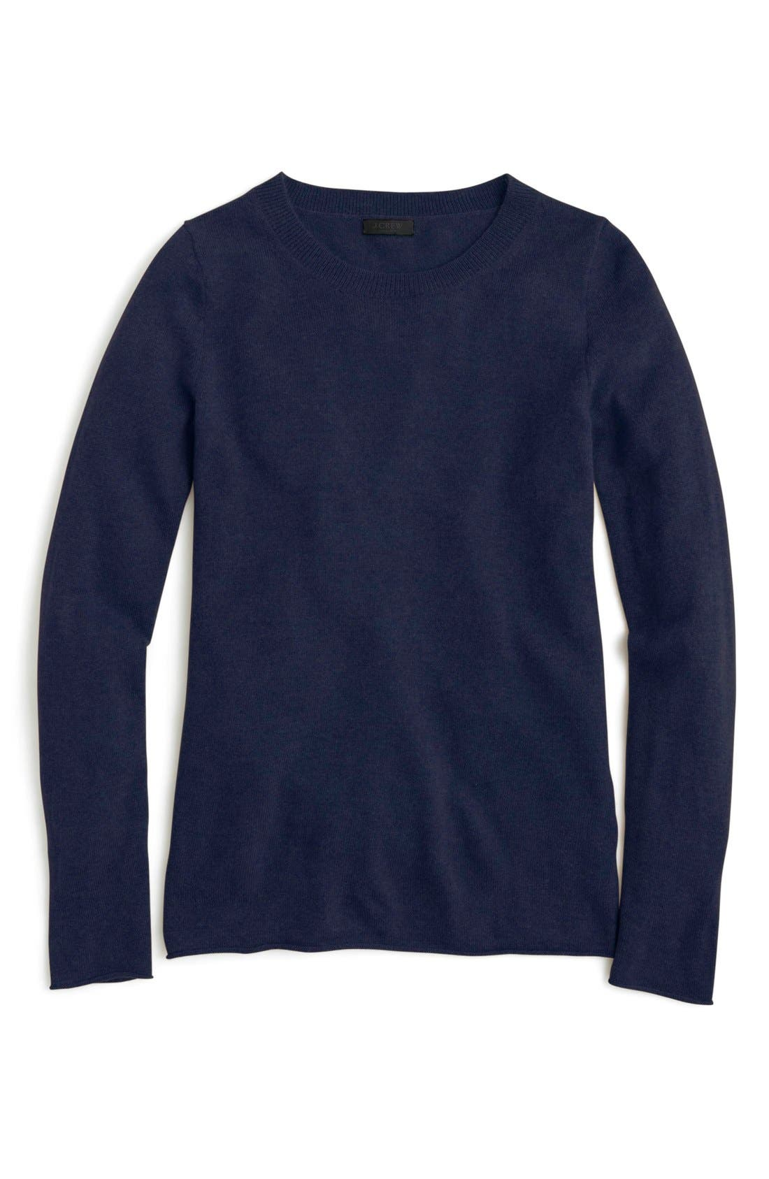 Main Image - J.Crew Long Sleeve Italian Cashmere Sweater