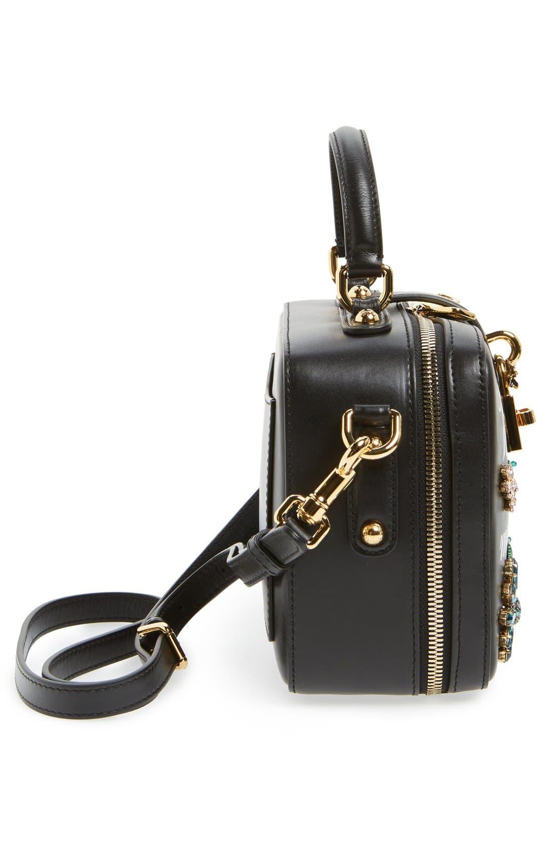 Alternate Image 3  - Dolce&Gabanna 'Small - Most Beautiful' Crystal Flower Embellished Leather Handbag