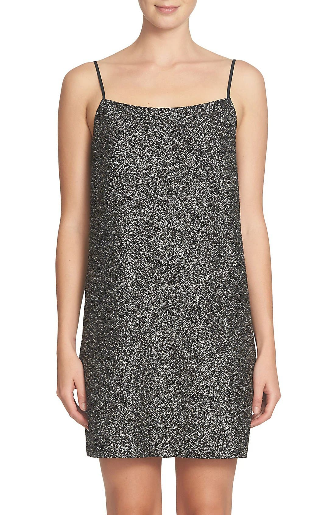 CECE Mia Foil Knit Slipdress