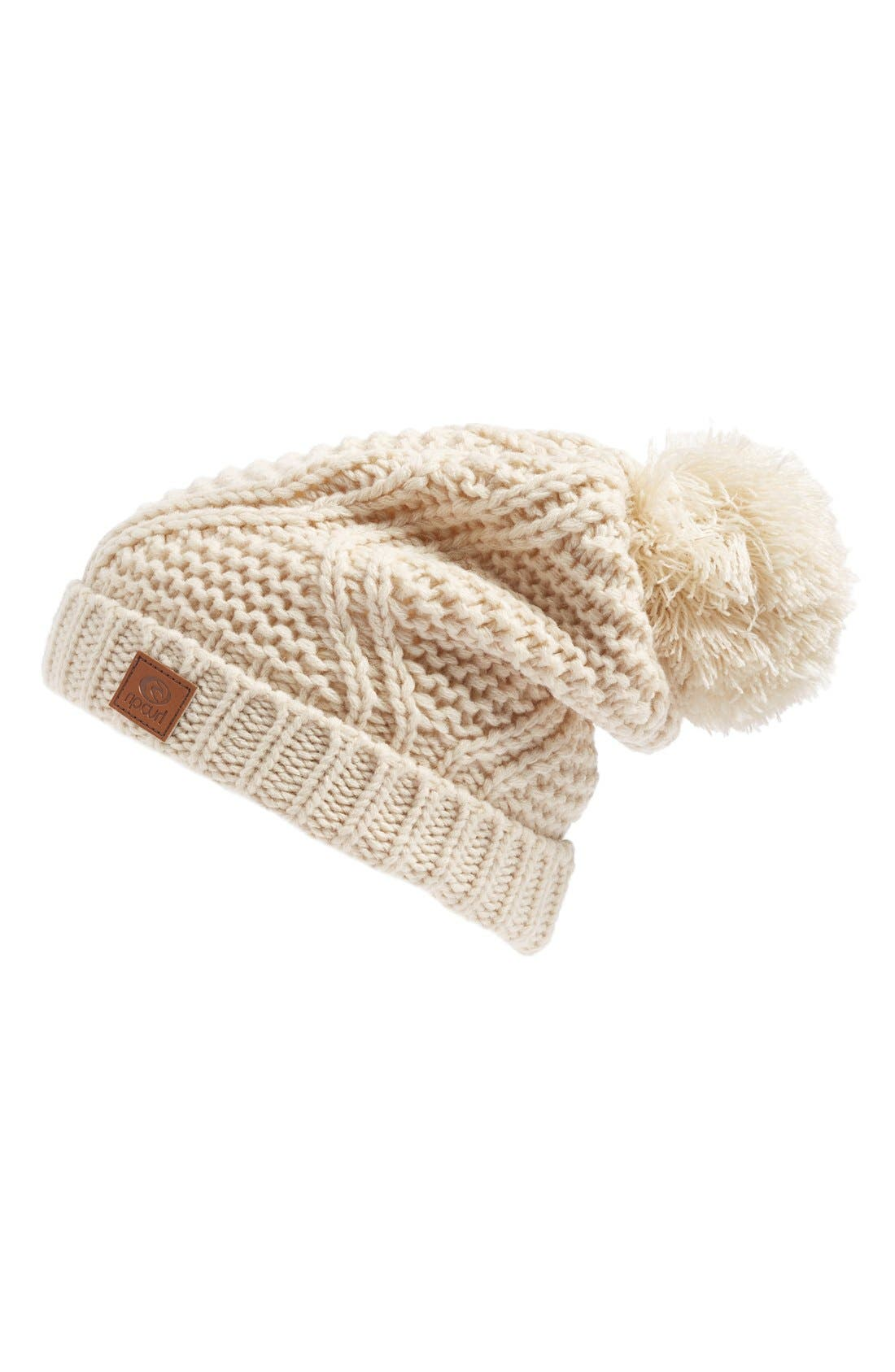 Alternate Image 1 Selected - Rip Curl Slouchy Pompom Beanie