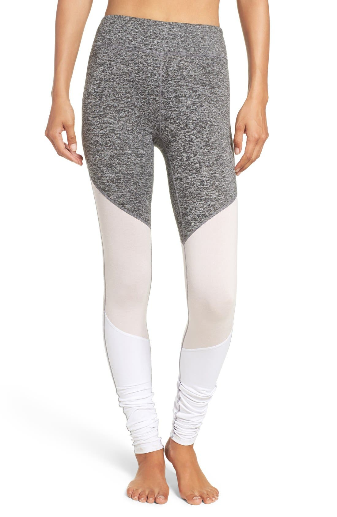 Main Image - Free People 'Intuition' High Waist Colorblock Leggings