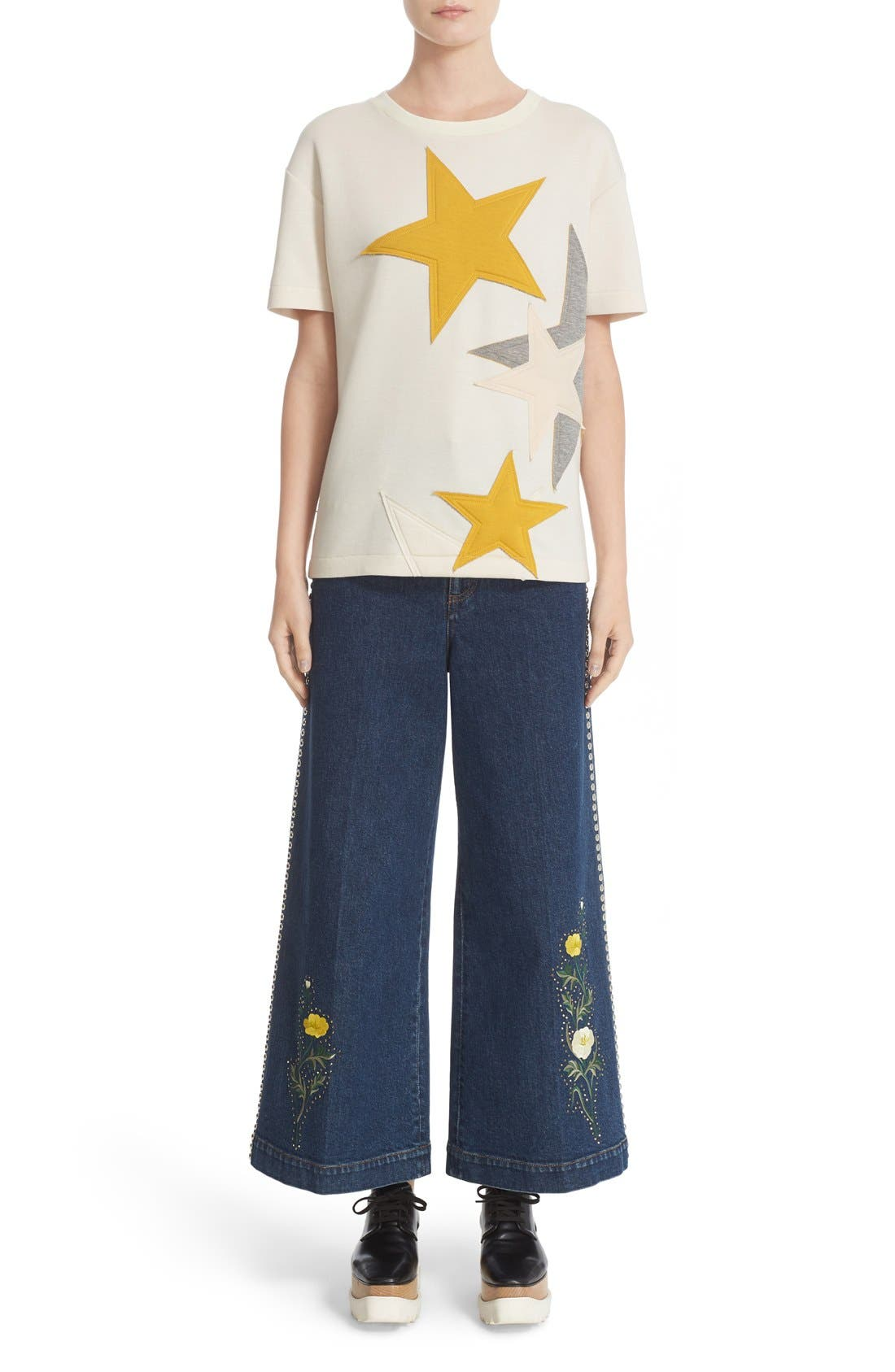 Alternate Image 7  - Stella McCartney Star Appliqué Jersey Tee