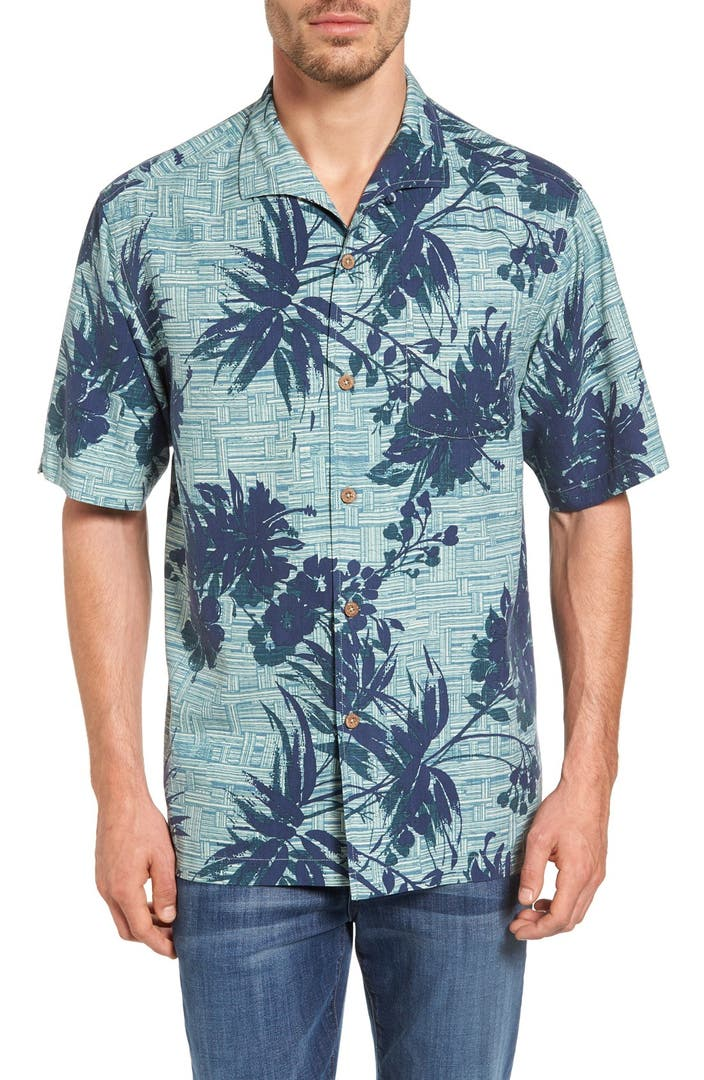 Tommy bahama bamboo island original fit tropical camp for Do tommy bahama shirts run big