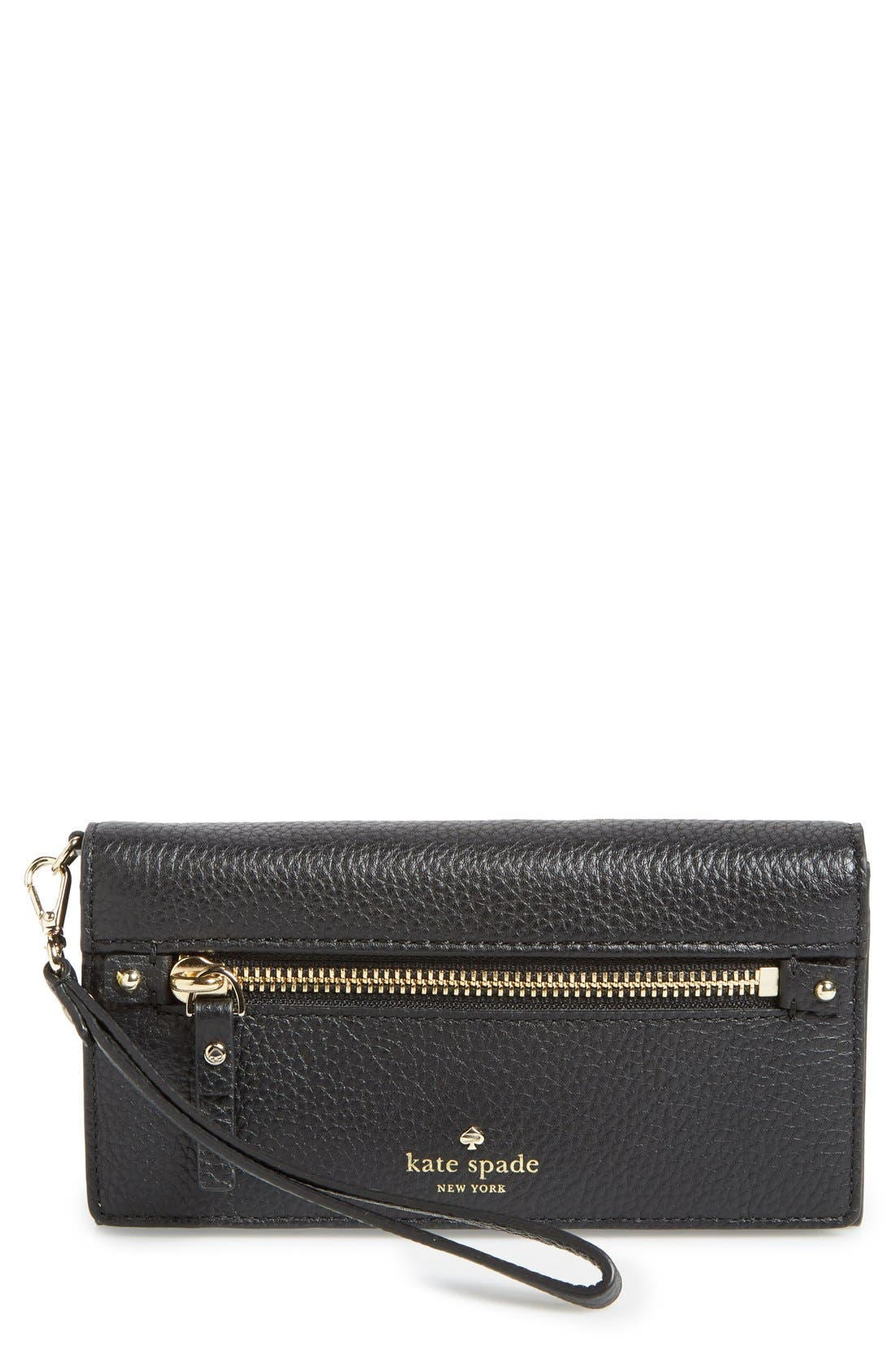 Main Image - kate spade new york 'cobble hill - rae' leather wristlet wallet
