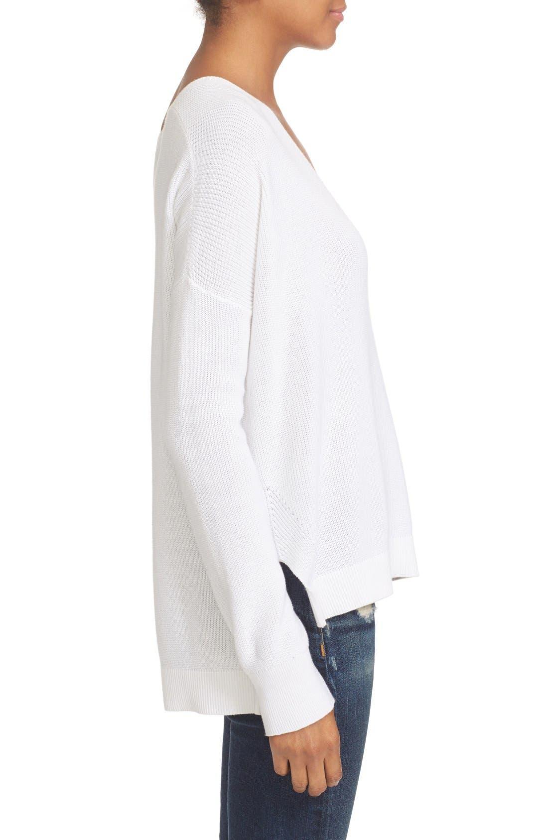 Alternate Image 3  - rag & bone/JEAN Taylor Washed Cotton Sweater