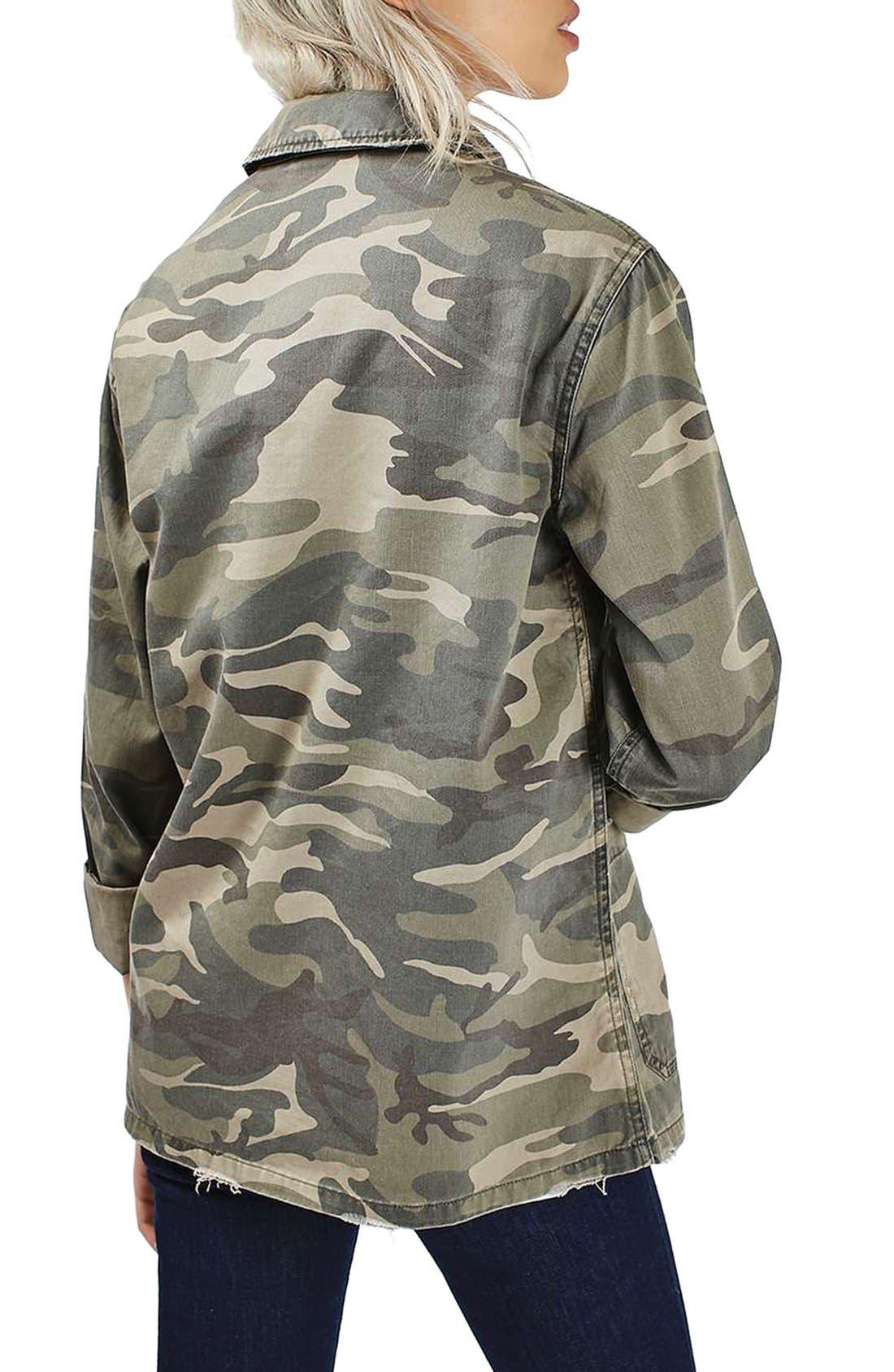 Alternate Image 3  - Topshop 'Sarge' Camo Shirt Jacket