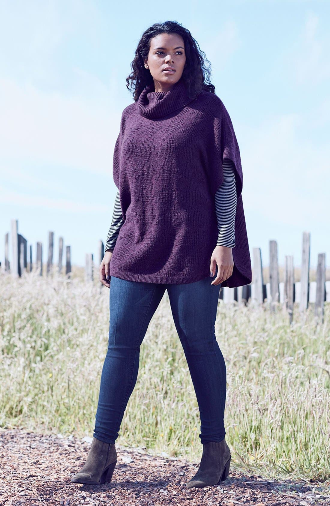 Sejour Sweater & Wit & Wisdom Skinny Jeans Outfit with Accessories (Plus Size)