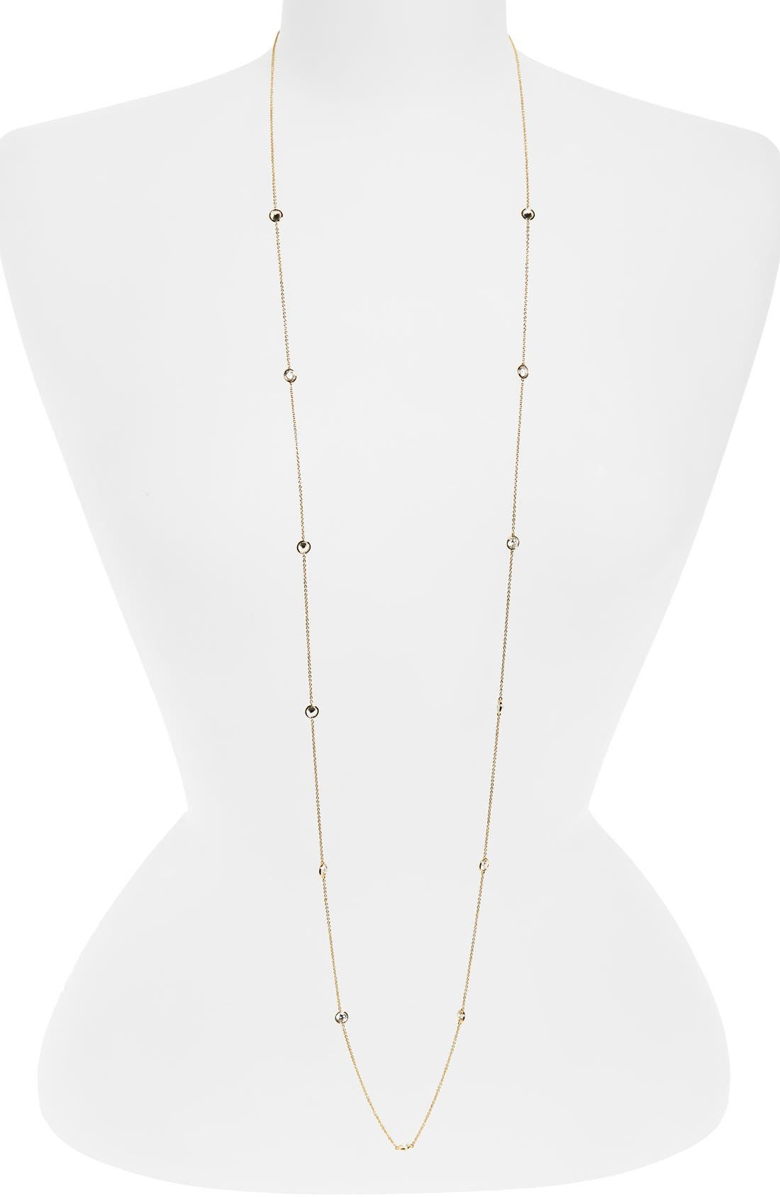 Nadri Long Bezel Station Necklace