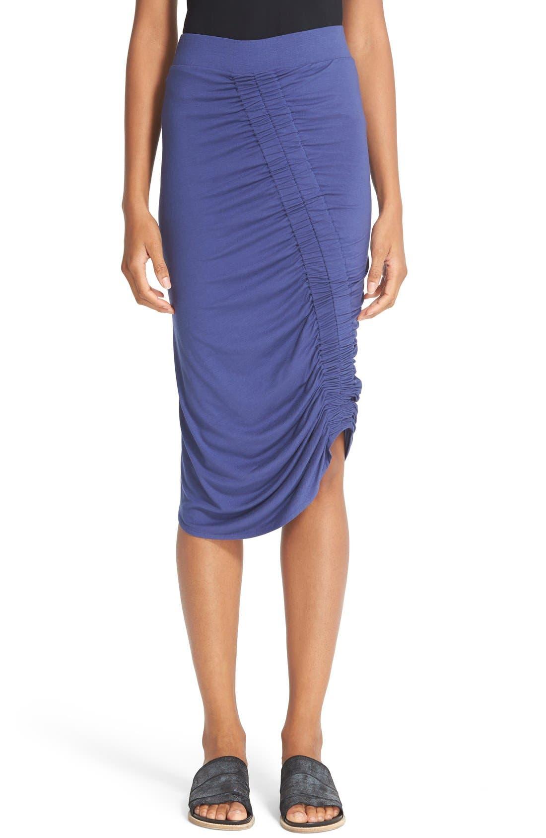 Main Image - Zero + Maria Cornejo 'Kia' Ruched Sim Jersey Skirt