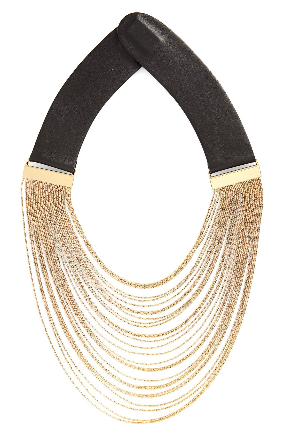 FAIRCHILD BALDWIN Multistrand Chain Collar Necklace