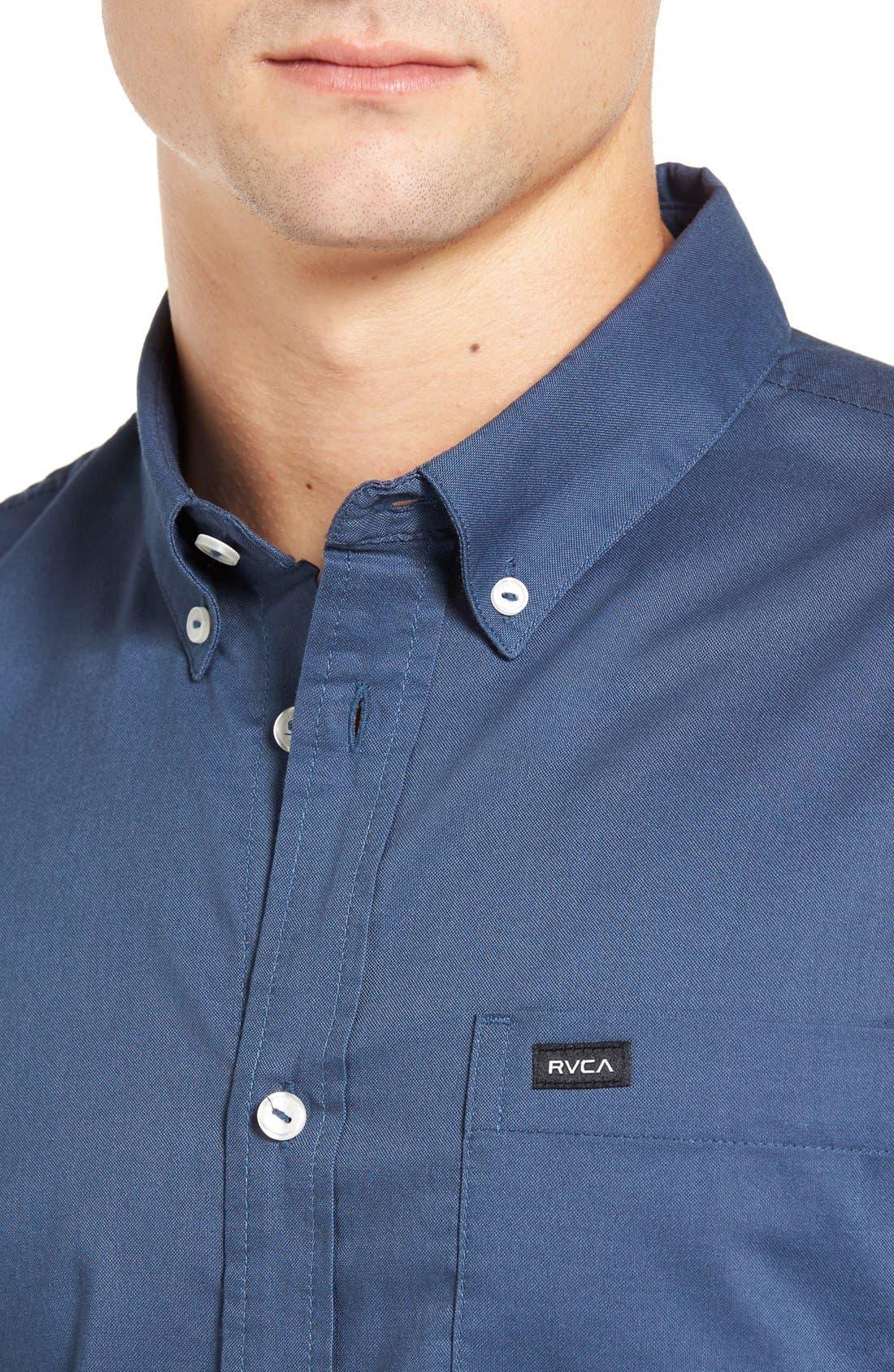 Alternate Image 4  - RVCA 'That'll Do' Slim Fit Oxford Shirt