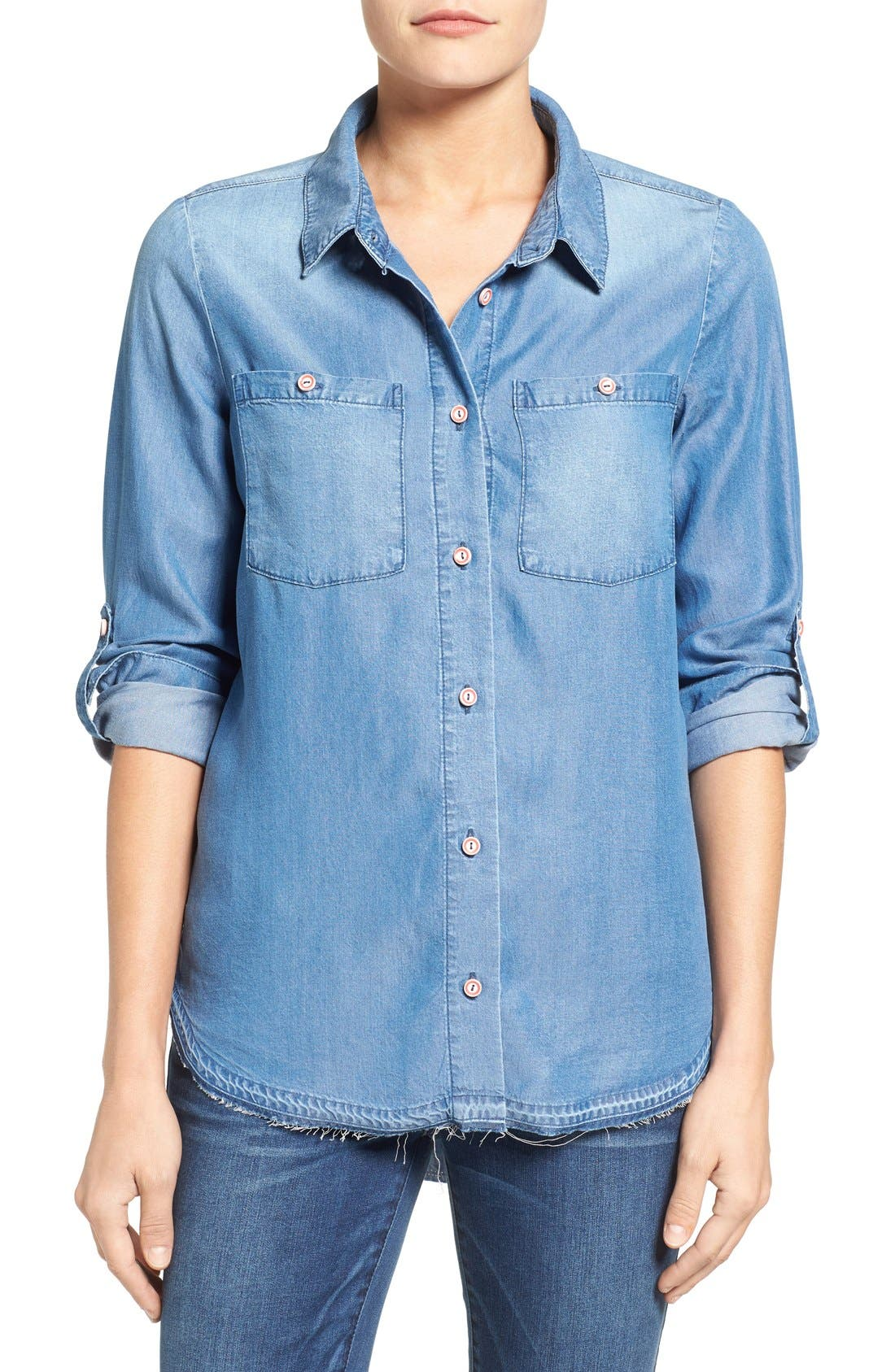 Wit & Wisdom Chambray Top (Nordstrom Exclusive)