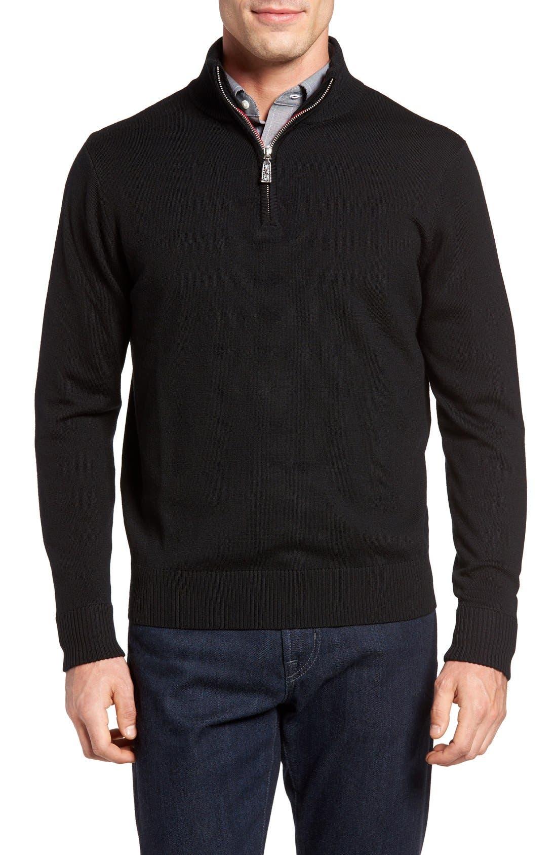 TailorByrd Backfoot Quarter Zip Wool Sweater
