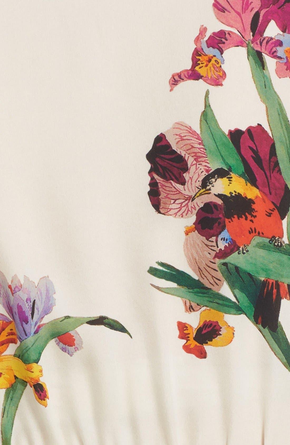 Alternate Image 3  - Etro Floral & Bird Print Silk Wrap Blouse