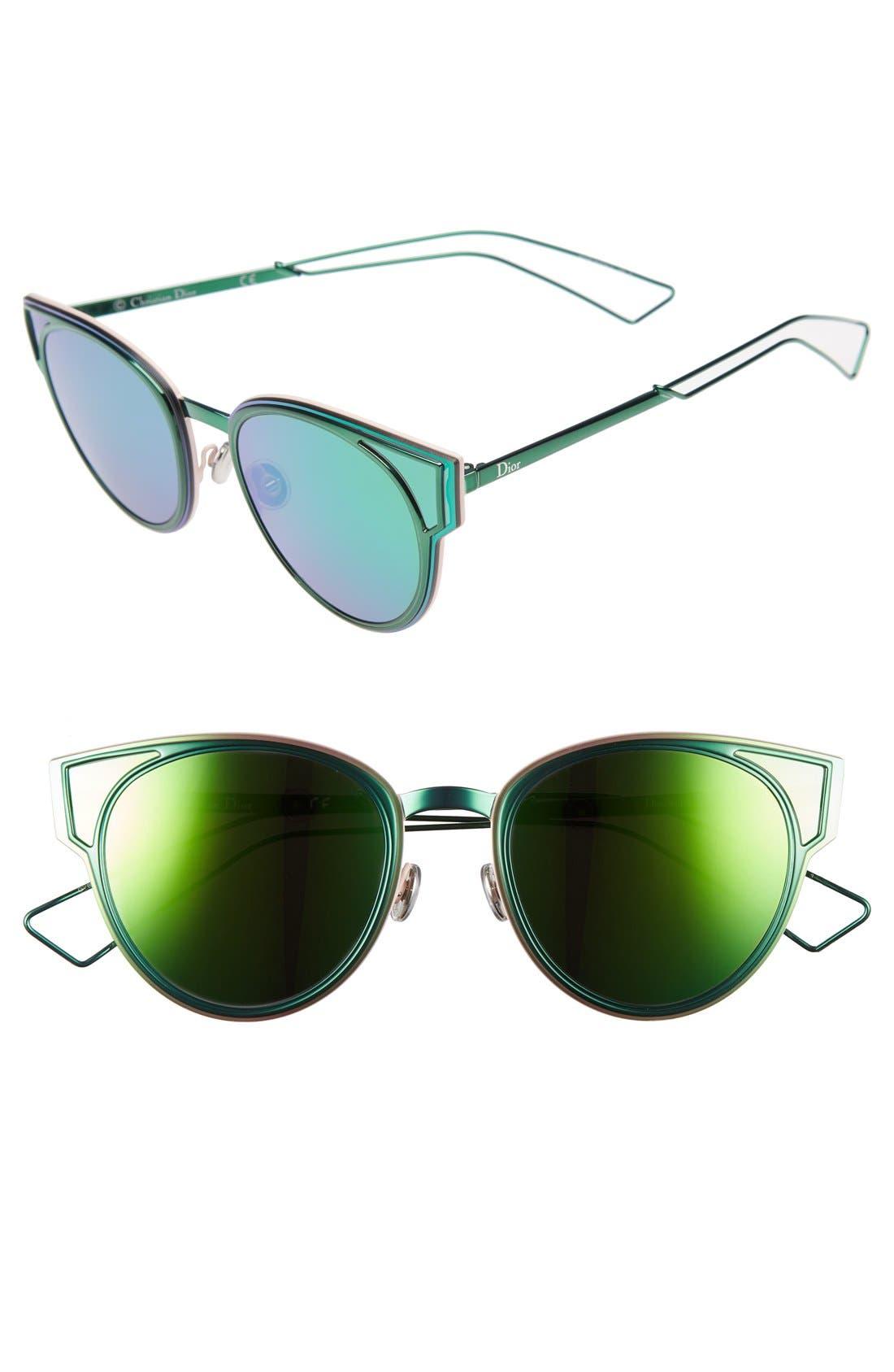 Dior Sculpts 53mm Cat Eye Sunglasses