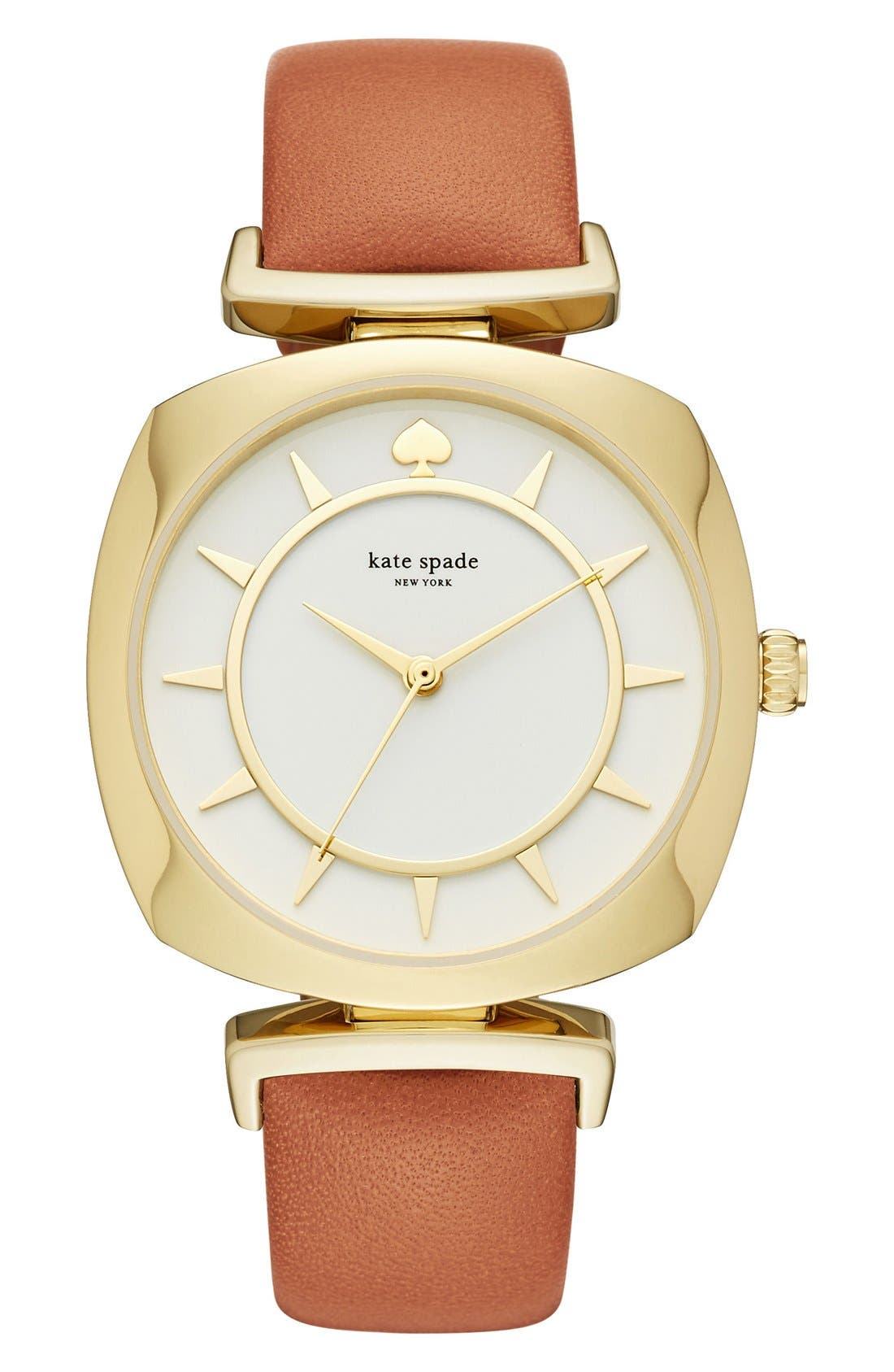 Alternate Image 1 Selected - kate spade new york barrow leather strap watch, 34mm