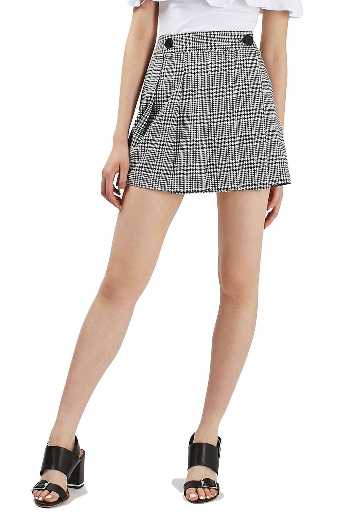 Alternate Image 1 Selected - Topshop Houndstooth Miniskirt
