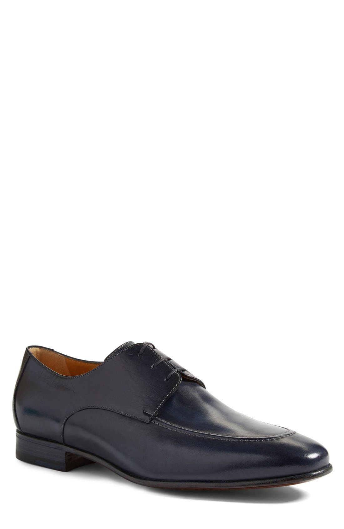Alternate Image 1 Selected - A. Testoni Apron Toe Derby (Men)