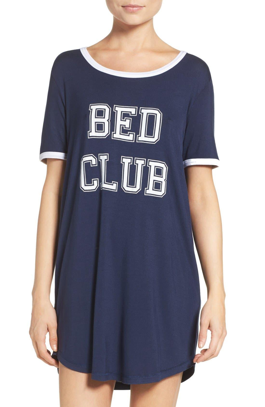 Alternate Image 1 Selected - COZY ZOE Graphic Jersey Sleep Shirt