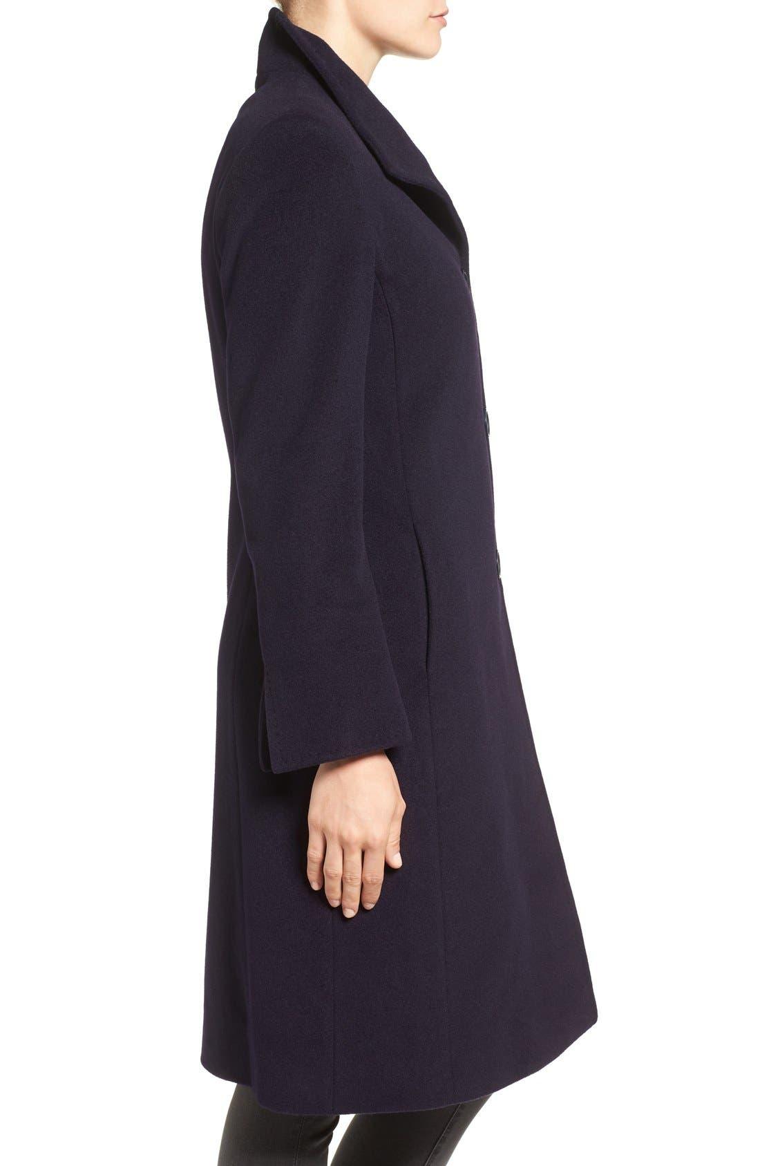 Alternate Image 3  - Cinzia Rocca Icons Stand Collar Wool Blend Walking Coat