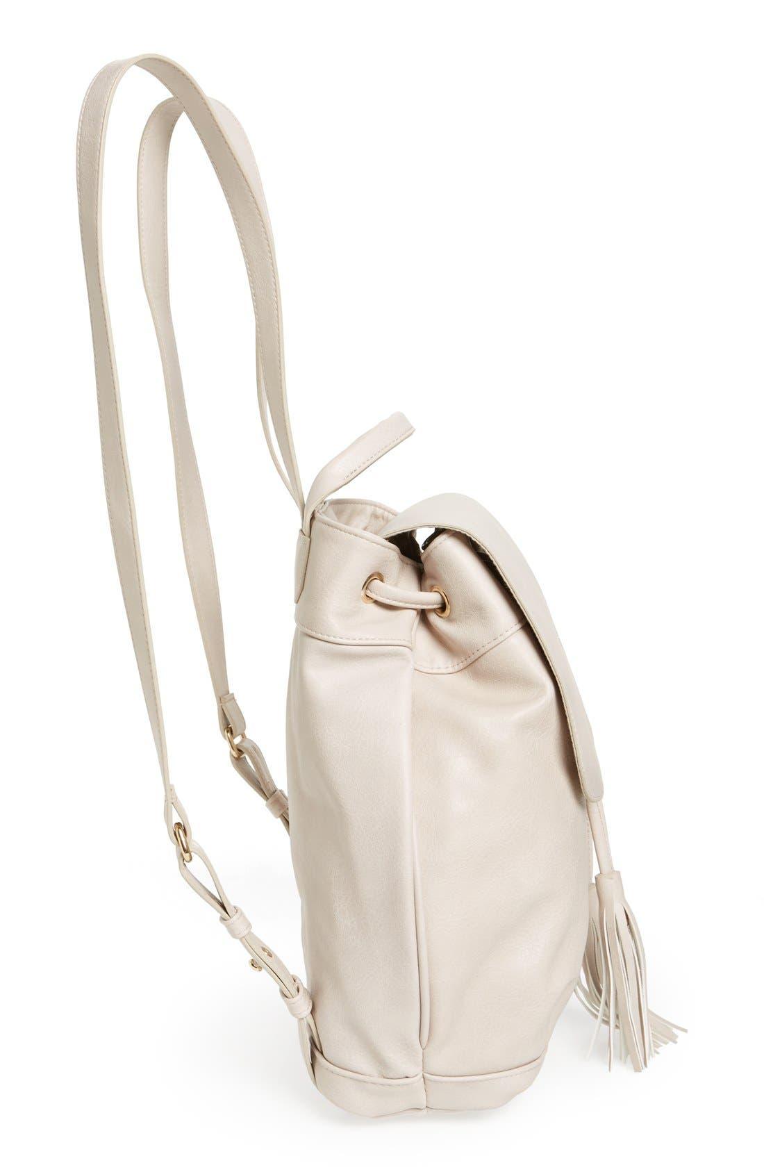 Alternate Image 4  - BP. Tassel Flap Faux Leather Backpack