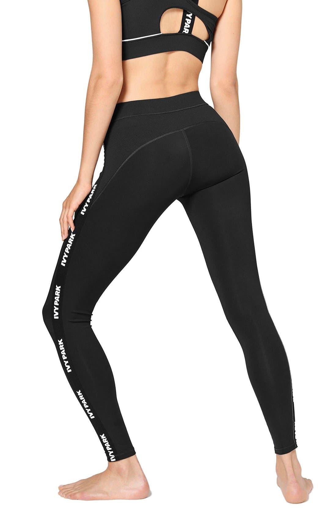 Alternate Image 3  - IVY PARK® Elastic Logo Mid Rise Leggings